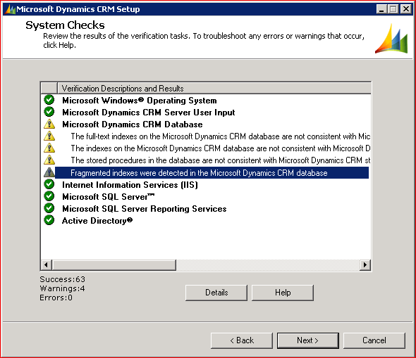 CRM 2011 Upgrade Verification Results