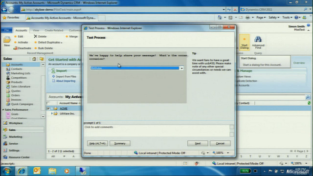 CRM 2011 Workflow Dialogs!