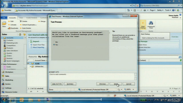 CRM 2011 Workflow Dialogs! Шаг 2